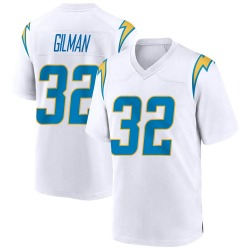 Alohi Gilman Los Angeles Chargers No.32 Game Jersey - White