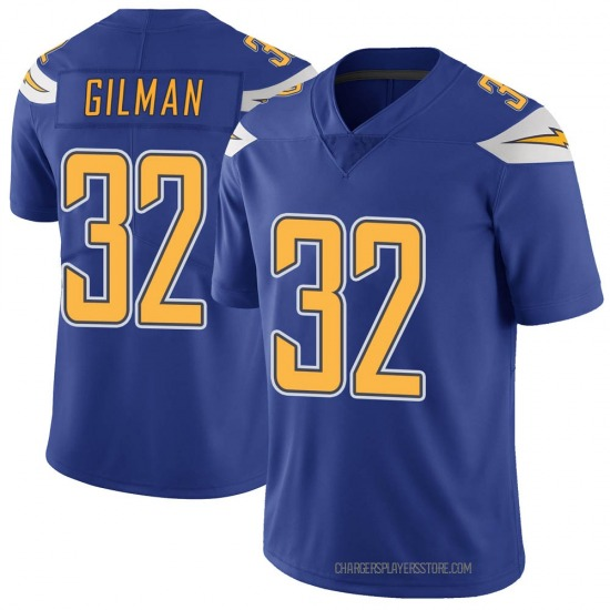 Alohi Gilman Los Angeles Chargers No.32 Limited Color Rush Vapor Untouchable Jersey - Royal