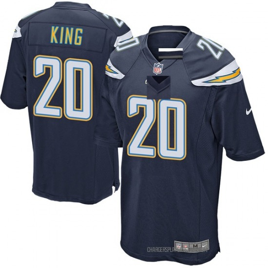Desmond King Los Angeles Chargers No.20 Game Team Color Jersey - Navy