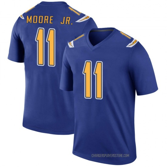 Jason Moore Los Angeles Chargers No.11 Legend Color Rush Jersey - Royal