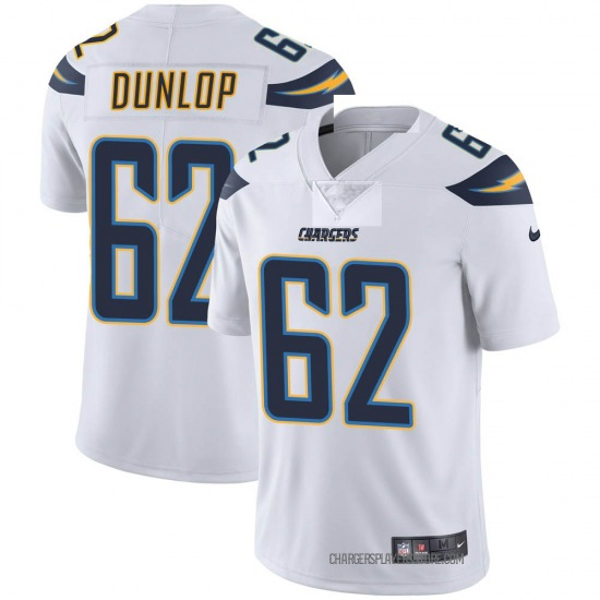 Josh Dunlop Los Angeles Chargers No.62 Limited Vapor Untouchable Jersey - White
