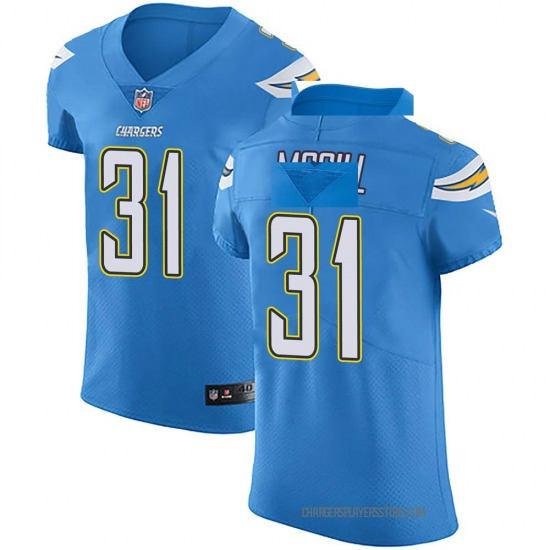 Kevin McGill Los Angeles Chargers No.31 Elite Alternate Vapor Untouchable Jersey - Blue